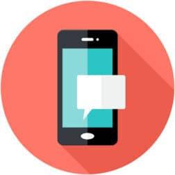 app movil smartphone notification flat circle icon vector 3435610 e1618326703716